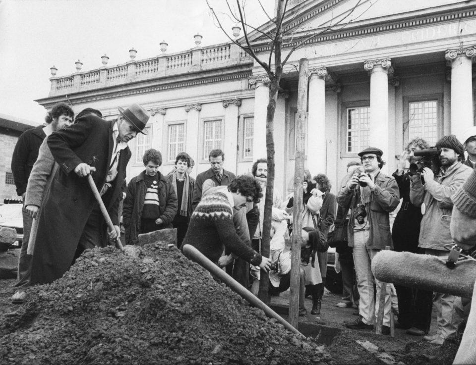 Joseph Beuys digging